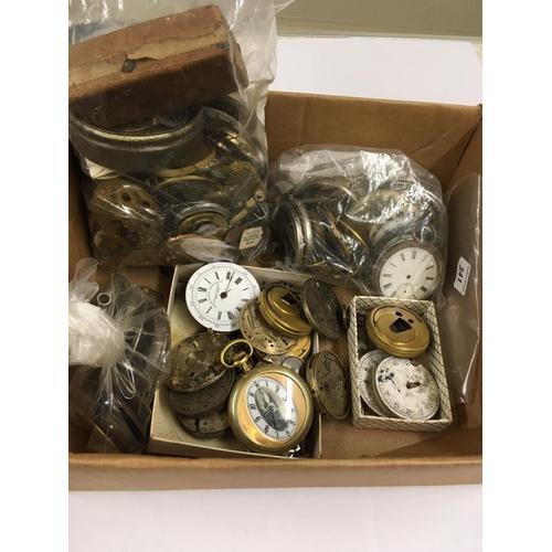479 - Large quantity of Antique vintage POCKET WATCH PARTS etc.  Spares or repair.