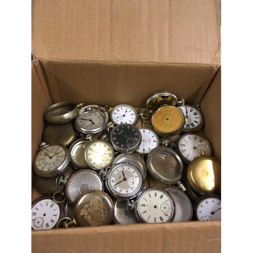 511 - Large amount of Antique vintage POCKET WATCHES etc.  Spares or Repair.