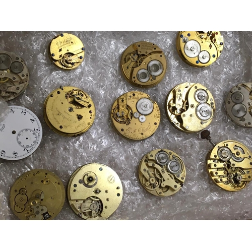 549 - Selection of  Antique vintage POCKET WATCH PARTS for spares or repair.