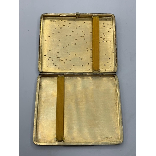 465 - RUSSIAN SILVER 19TH CENTURY CIGARETTE CASE WITH MULTIPLE SIGNATURES, WEIGHT 148.9G AND 9.5 X8CM