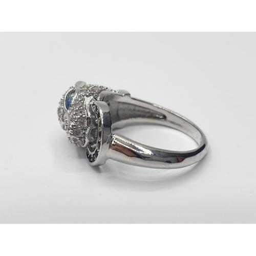 572 - A KABBALAH KING designer panther pave bracelet (RRP: $495) and matching ring (RRP: $99), unused,  in...