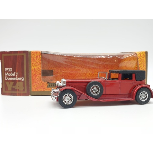 586 - 4 x Matchbox Diecast MODEL SPORTS CARS to include 1938 Hispano Suiza, 1936 Jaguar SS-100, 1930 Model...