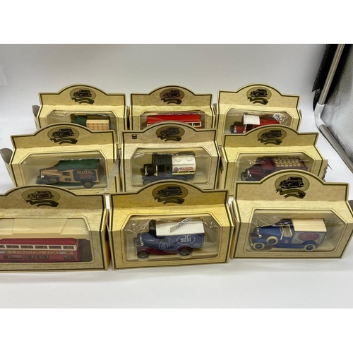 504 - 35 x Lledo Assorted Dinky sized collectible advertising vehicles.  All boxed and as new.