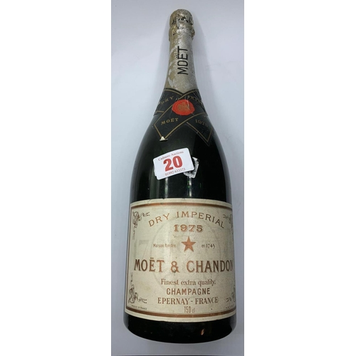 610 - A 1975 Magnum of Moet and Chandon champagne