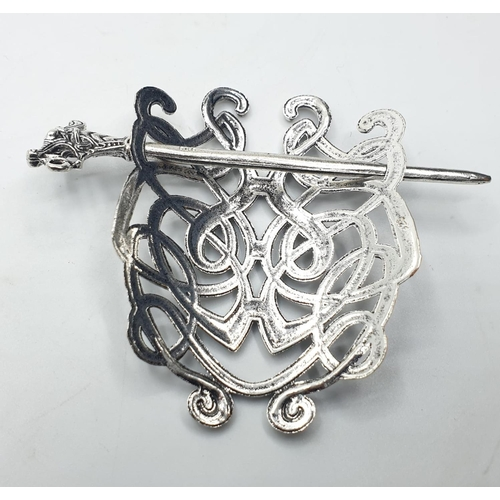 614 - A collection of Art Nouveau and Viking or Celtic style hair clips, pins and beard beads. Some are ma...