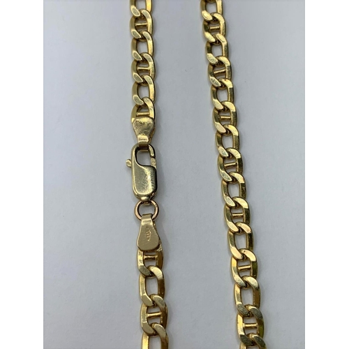 10 - 14CT YELLOW GOLD ANCHOR STYLE CHAIN, WEIGHT 18.7G