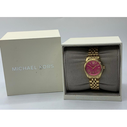 40 - MICHAEL KORS WATCH MK3270 WITH BOX ( BATTERY CHANGED LAST WEEK )