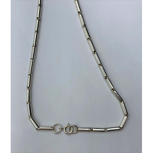 59 - SILVER FANCY LINK NECKLACE, WEIGHT 14.7G