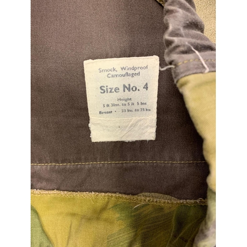 11 - SAS smock type JACKET.  WWII style camouflage smock worn by SAS until late 1970's.  Size 4 .