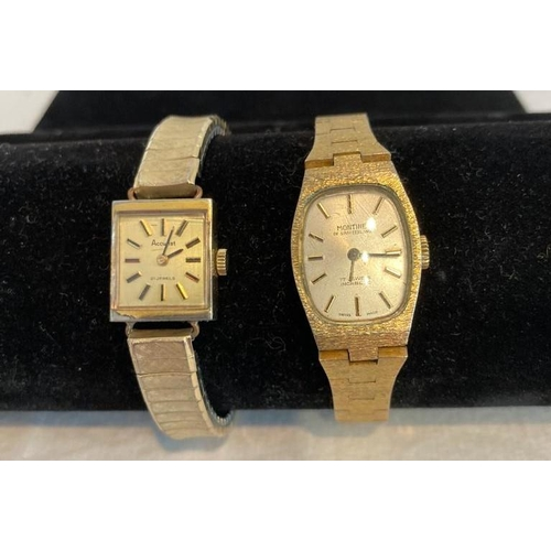 766 - Pair of Vintage Ladies Wristwatches, Quality Brands, 1x Accurist 21 Jewels Square Face, Gold Tone, 1...