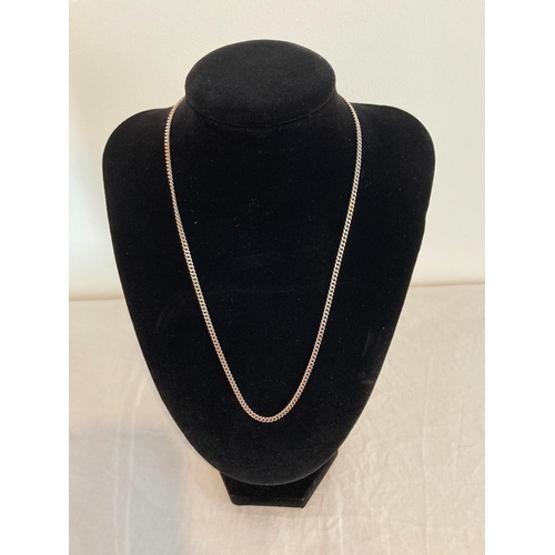 756 - Silver Link Chain Necklace with Markings showing Balestra 925 Silver, 45cm approx, 18cm inches appro...