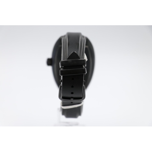 7 - Franck Muller black conquistador king watch, discontinued vanilla scented black rubber strap, no box...