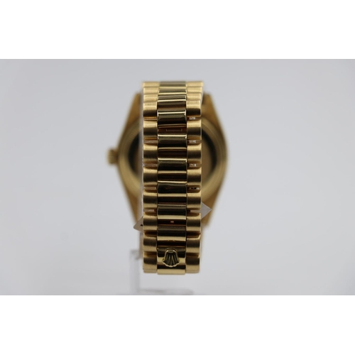 76 - Rolex Daydate watch 1970s model with custom diamond shoulders and bezel, factory dial, come with box...
