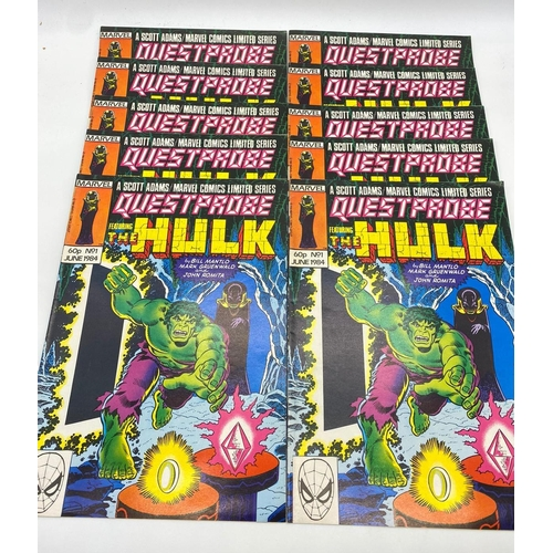 737 - 10x copies of Marvel comics 'The Hulk' June 1984 (one is mint condition)