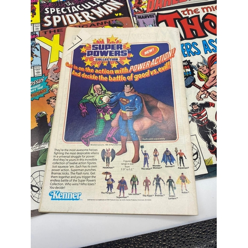 753 - 24x copies of DC/Marvel comics to include Spiderman, Fire Storm, Action comic, Thor etc