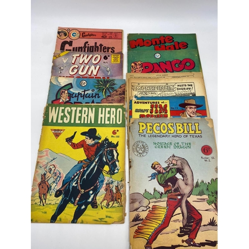 768 - 9x English issues 1950s comics