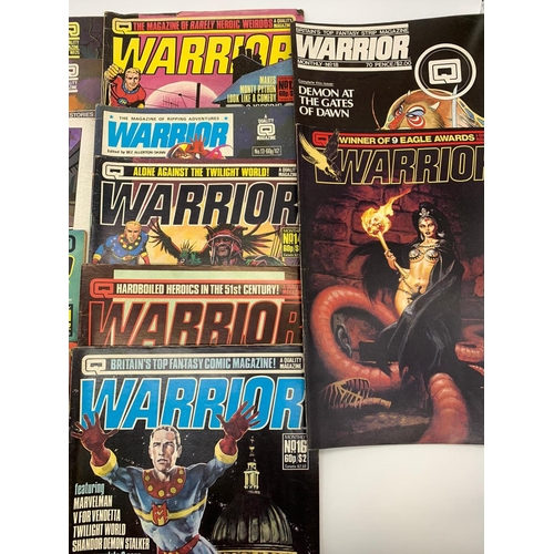 773 - 12x issues of 1980s Warrior magazines