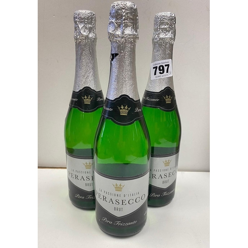 797 - 3x bottles of BRUT Perasecco