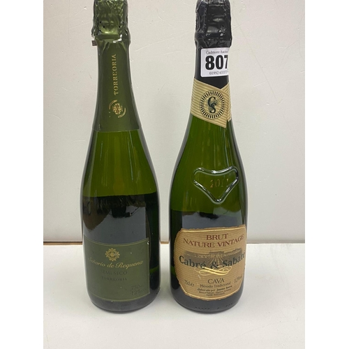 807 - 2X bottles of CAVA (1 BRUT and 1 TORREORRA)