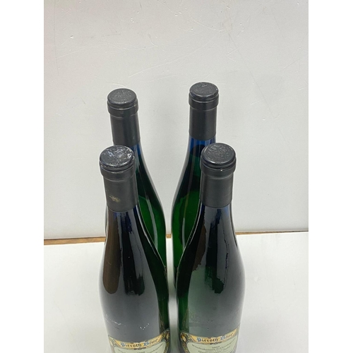 811 - 4x bottles of 1989 Pierroth Blue quality white wine