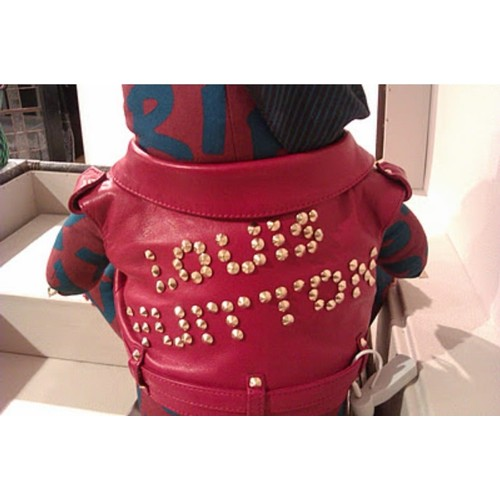 8 - Louis Vuitton Pudsey Bear in LV travel case (One off edition) The one of a kind Punk-styled LV Bear ...