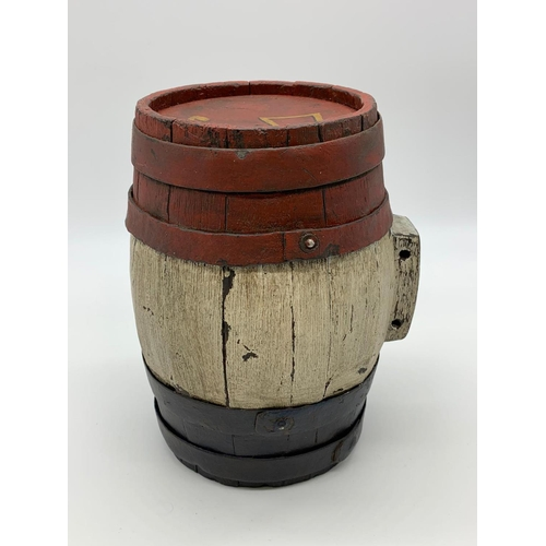 123 - French Painted Barrel-Maybe Napoleonic or later.