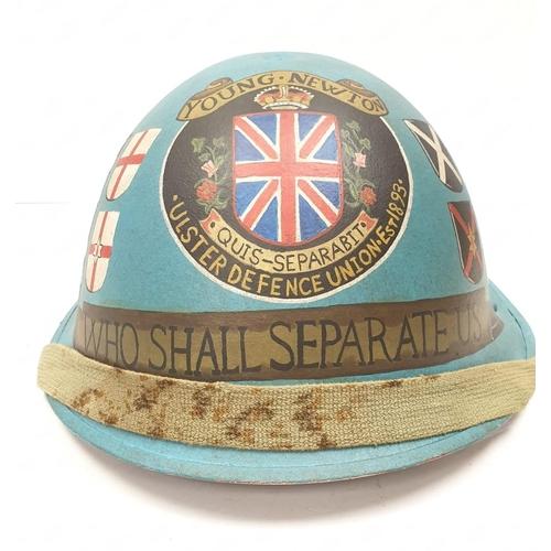 2 - Northern Ireland Memorial Painted Helmet.