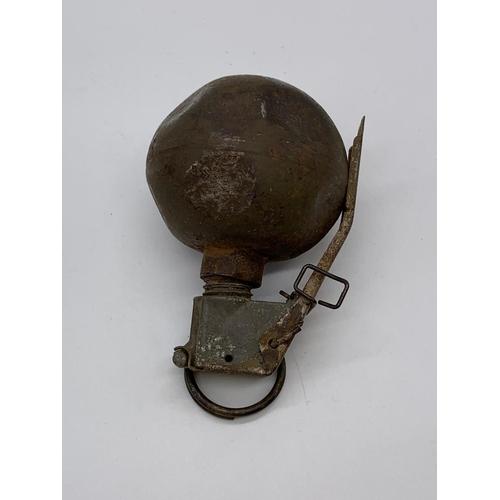 "23 - INERT Vietnam War Era US M-67 ""Baseball"" Grenade in transit tube. The idea was that every all-Americ..."