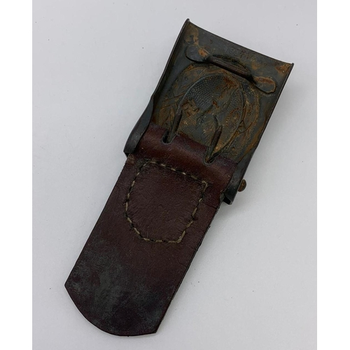 42 - German Luftwaffe Buckle and leather Tab Dated 1939