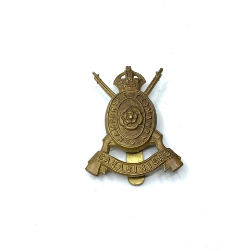 827 - WW1 Cap Badge The Hampshire Yeomanry Carabiniers