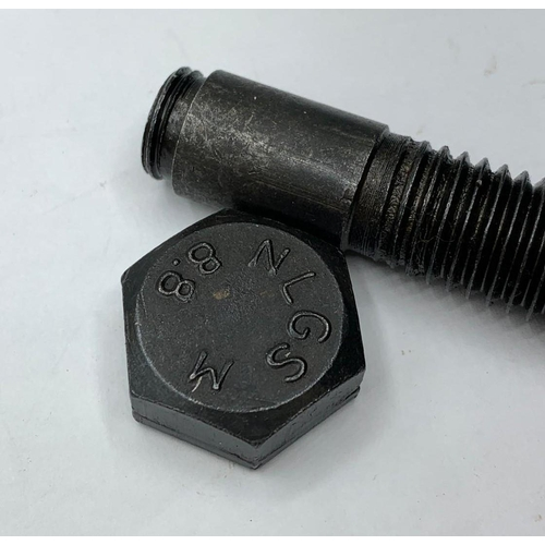 831 - SOE-OSS Message Bolt. A standard bolt that has been hollowed out and the top threaded so that a mess...