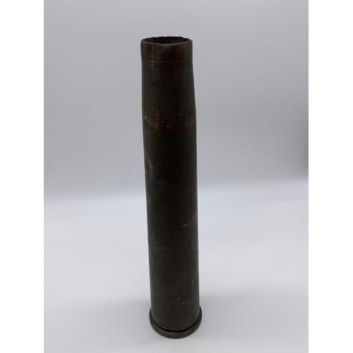 422 - INERT WW2 Bofors Anti Aircraft Gun Shell Case Dated 1939.