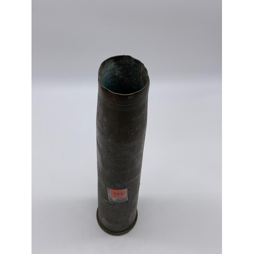422 - INERT WW2 Bofors Anti Aircraft Gun Shell Case Dated 1939.