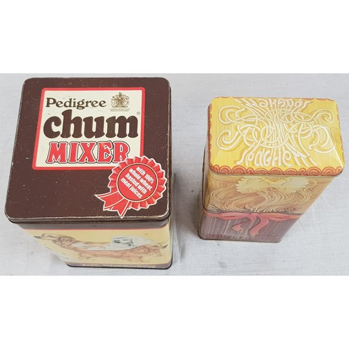 891 - 2 Vintage Kitchen/Biscuit Tins. A Pedigree Chum and a Spaghetti Girl. 26 and 30cm