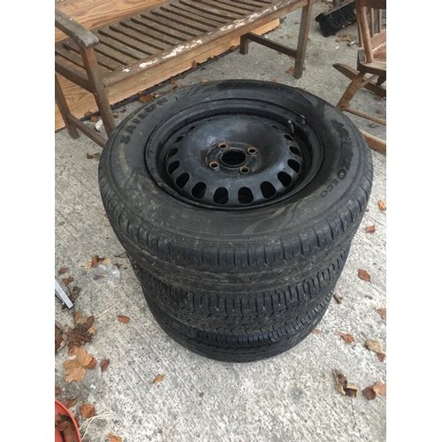 5 - 3 car tyres in good condition 185/70...