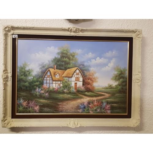 12 - large cottage painting...