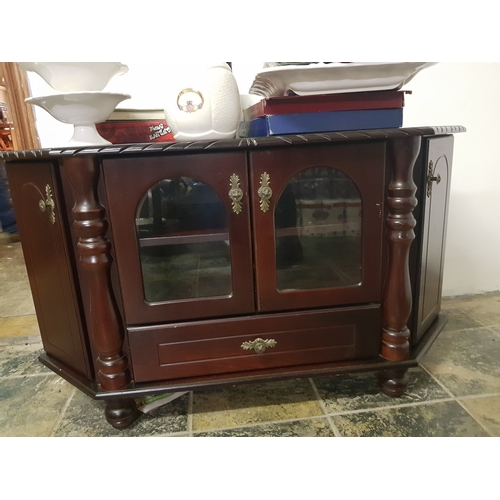 15 - Dark wood TV Cabinet...