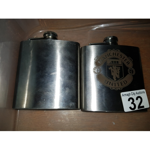 32 - Man Utd flask + another...