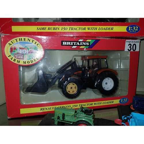30 - Britain Renault Tractor Loader 1.32 scale...