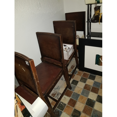 24 - 4 Old dining Chairs...