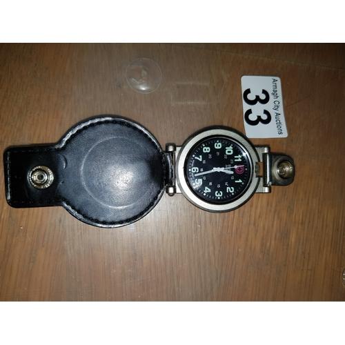 33 - Army Swiss Pocket Watch...
