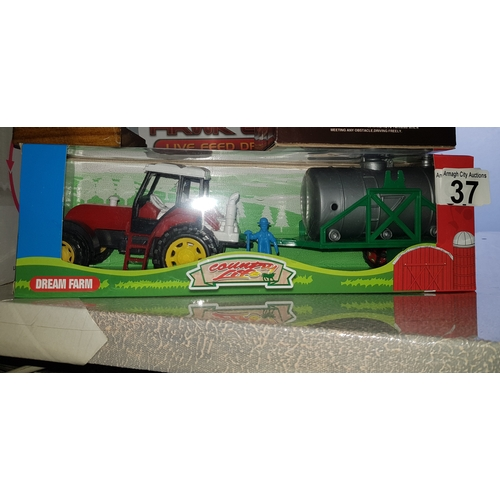 37 - Kids Toy Tractor...