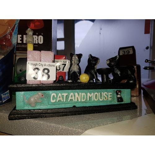 38 - Cast Iron Money Box...