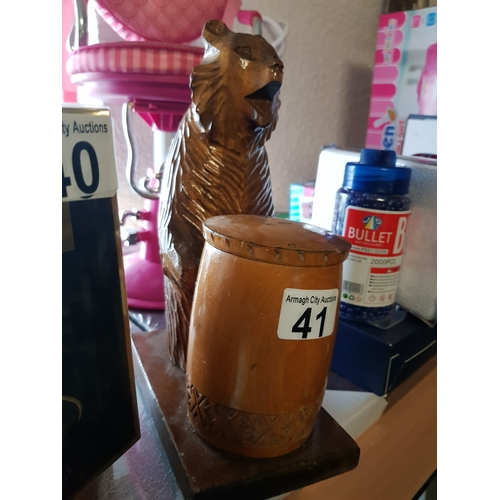 41 - Old Wooden Honey Bear...