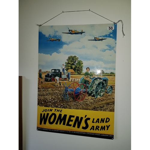 50 - Large Tin Sign of Women to join the army...