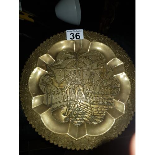 36 - brass tray...