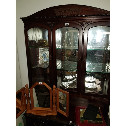 49 - Large Dark wood Cabinet...