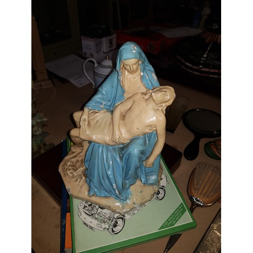 30 - Old virgin Mary ornament...