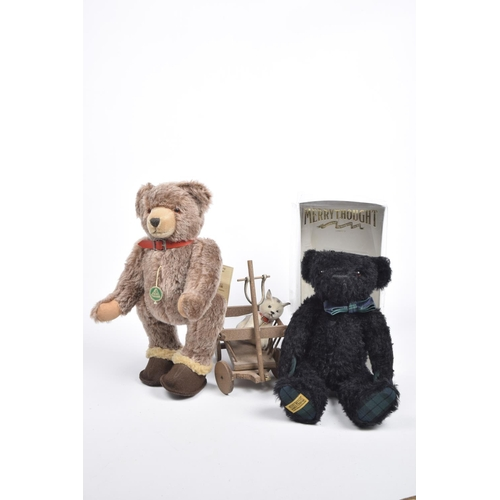 11 - A boxed Merrythought SHS 14FST Black Watch bear, no. 154/750 Height 35cm, unboxed Hermann brown plus...