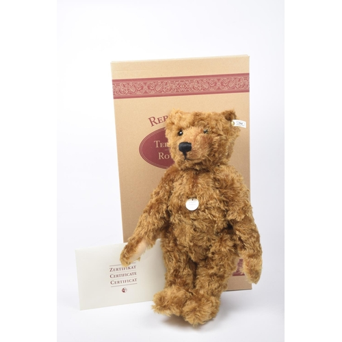 17 - A boxed Steiff 1905 teddy bear Red/brown mohair 'Teddy Girl', white tag 404306 limited edition no. 2...